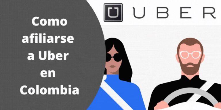 Como afiliarse a Uber en Colombia
